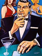 JAMES BOND 007 PRINT poster sean connery goldfinger movie dr. no smoking martini