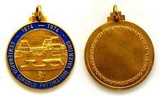 Medaglia Con Vernice 1874-1974 Centenario Circolo Pattinatori Valentino Torino