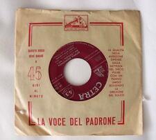 Carla Boni EVVIVA REDEGONDA / MARIETA MONTA IN GONDOLA singolo 45 gg vinile 1958