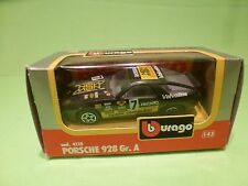 BBURAGO 4110  PORSCHE 928 GR. A - BLACK 1:43 - GOOD CONDITION IN BOX
