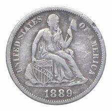 Full Liberty - 1889 Seated Liberty Silver Dime *150