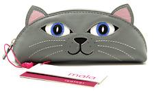 Lola Grey Cat Glasses Case Soft MALA Leather Spectacle Reading Sunglasses Gift