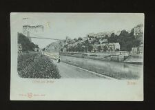 Glos Gloucestershire BRISTOL Clifton and Bridge HTL HOLD TO LIGHT PPC 1904