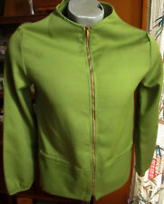 SMALL True Vtg 60s Lime Green Garage Band Awkward Fit Catalina Brass Zip Jacket