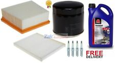 FOR FORD FIESTA MK7 OIL AIR CABIN SPARK PLUGS & ENGINE OIL SERVICE KIT *NEW*