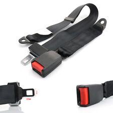 Black 2 Point Retractable Safety Seat Belt Lap Extra long Adjustable Nylon Strap
