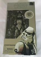 STAR WARS CARBONIZED STORMTROOPER BLACK SERIES 6' FIGURE 40TH ANNIVERSARY NEW