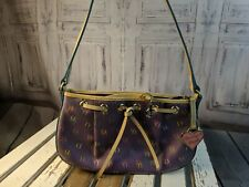 Dooney Bourke purse handbag bag satchel bag handbag tote crossbody mini purple