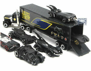 Collectable Diecast Batman Car +Cargo Truck Model 7Pcs Set Toys  For Kids Gift
