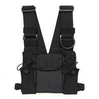 Radios Chest Front Pack Pouch Holster Carry Bag Baofeng UV-5R ICOM walkie talkie