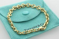 Tiffany & Co. 18K Italy Yellow Gold Round Oval Alternating Link Bracelet - 6.5""