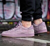 Reebok Men's Club C 85 SG Fashion Trainers Dusky Pastel Purple Suede Sneakers