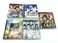 Lot of 5 PS 3 Japan games One Piece Kaizoku Musou/Ryu ga Gotoku4 /Sangokusi12