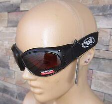 Motorcycle Biker Goggles Googles Glasses Sunglasses Driving Mirror Bronze Lenses