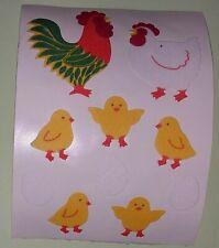 🦁🍀Sandylion BIG Hühner Stoff Fuzzy   Scrapbooking Sticker🍀🦁