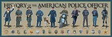History of the American Police Officer Print 36x11.75