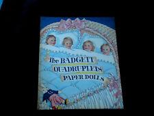 Vintage The Badgett Qiadruplets Paper Dolls Uncut, Copyright 1941 Saalfield Pub