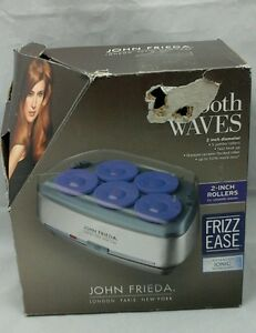 """Hair Curlers John Frieda Smooth Electric Waves Hot  2"""" Rollers Frizz Ease Ionic"""