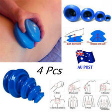 4 Cups Silicone Massage Cupping Celluless Vacuum Therapy Anti-cellulite Set SN
