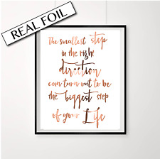 Inspirational Quote Foil Poster / Copper Foil Print saying / Australian made art