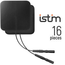 "iStim 16 Black premium Soft 2""x2"" Tens unit Electrodes pads with Japanese Gel"