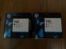 2 New Genuine Factory Sealed HP 940 Printhead SET C4901A C4900A  C M Y Black