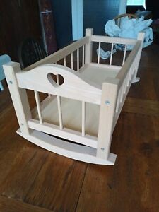 Dolls Wooden Crib Bed