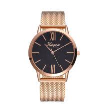 Fashion Women Watch Mesh Band Stainless Stell Quartz Analog Dress Wrist Watch CH