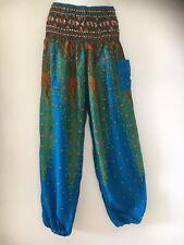 Ladies Boho Harem Pants Summer Free Size 8 10 12 14 Also Maternity BNIP [RG-GBP]