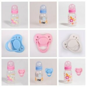 Reborn Baby Dolls Accessories PP Feeding Bottle Magnetic Dummy Pacifier Soother