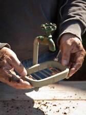 Farm House Bath Kitchen Gardener's Soap Dish Rustic Metal Water Spigot Faucet