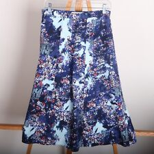 Christopher & Banks Casual Long Skirt Blue Abstract Pattern Women's 6p