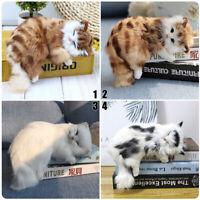 Realistic Lifelike Cat Plush Toy Simulation Stuffed Animal Fluffy Doll Best