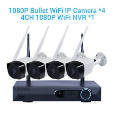 2.0 Megapixel 1080P 4CH NVR Kits Wireless Wifi Security Camera Indoor Outdoor
