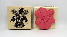 """CHRISTMAS STAMP BY CRAFT SMART """"BELLS HOLLY & BOW"""" NEW"""