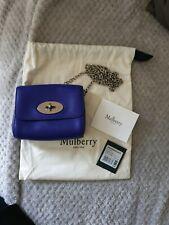 ba5bd78daf4 Brand New Mulberry Mini Lily Indigo Handbag