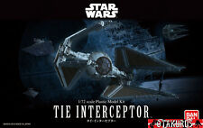 Tie Interceptor Star Wars Scale 1/72 Model Kit Figure Bandai Japan