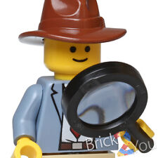 LEGO Detective Ace Brickman Minifigure w/ Magnifying Glass Detective's Office