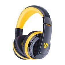 MX666 Bluetooth v4.1 Stereo HIFI Wireless Headset with Mic TF FM Radio - Yellow