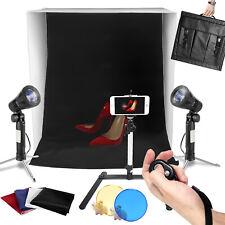 "Photo Studio Photography 24"" Light Tent Backdrop Kit Cube Lighting Kit In A Box"