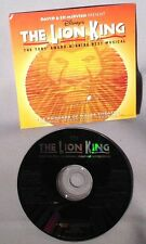CD SOUNDTRACK The Lion King DISNEY Musical Toronto Production 4 Tracks PROMO