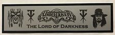 The Undertaker nameplate for signed robe trunks photo or display case