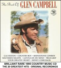Glen Campbell - Very Best 20 Greatest Hits Collection RARE 1995 Country Music CD