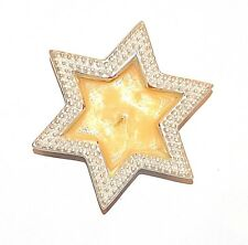 Christmas Candle Nacre Star Wax Advent Decorative