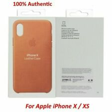 Genuine OEM Apple iPhone X/XS Leather Case Saddle Brown Brand New In Retail Box