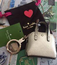 Kate Spade Keychain Things We Love Gold Mini Maise Handbag Keychain NEW$58