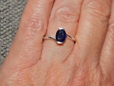 MASOALA SAPPHIRE OVAL SOLITAIRE RING- SIZE P- 1.750 CARATS -STERLING SILVER 925
