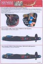 Kits World Decals 1/48 AVRO LANCASTER Mk.I Fannin Fanny & Pistol Packin Mama