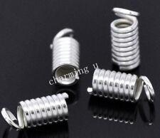 20pz coprinodo terminale 9x4mm nikel free color argento