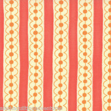 Fabric ~ SASSY ~ by Sandy Gervais MODA (17647 12) Stripes/Coral - 1/2 yard
